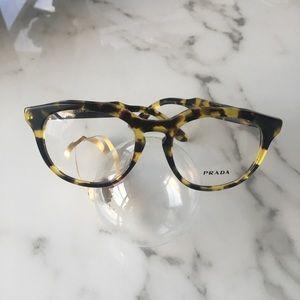 f1557c8aedd9 Prada Accessories - Prada Journal VPR 13S Havana Eyeglasses 48-18 NEW